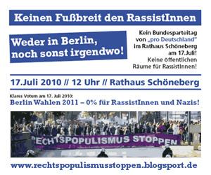rechtspopulismus stoppen!